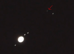 a bright unknown object is appearing near the Jupiter circle